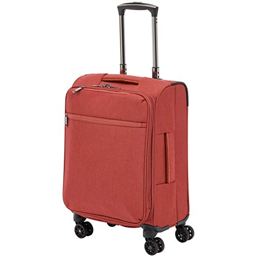 AmazonBasics Belltown Softside Luggage Spinner Suitcase Spinner - 21-Inch, Heather Red (21 Carry On Luggage Case)
