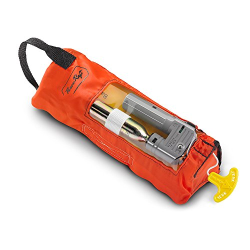ThrowRaft TD2401 Type IV Inflatable Throwable PFD Flotation Device, USCG Approved (Life Raft Valise)