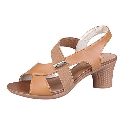 Womens Vintage Dance Shoes,❤️ FAPIZI Ladies Open Toe Sandals Square Dance Sandals Ballroom Tango Latin Dancing Shoes Yellow]()