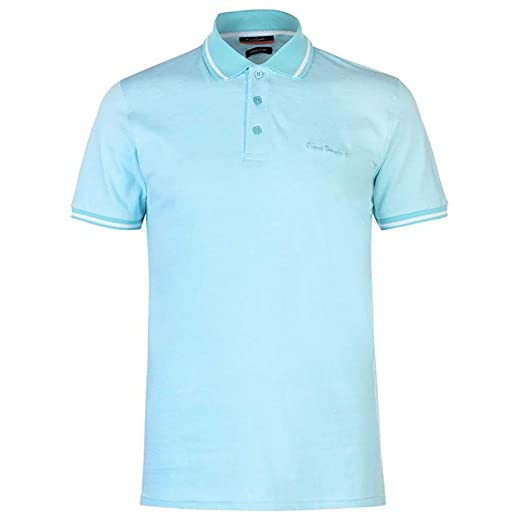 6df67376 Pierre Cardin Mens Engineered Thin Stripe Polo with Signature Embroidery