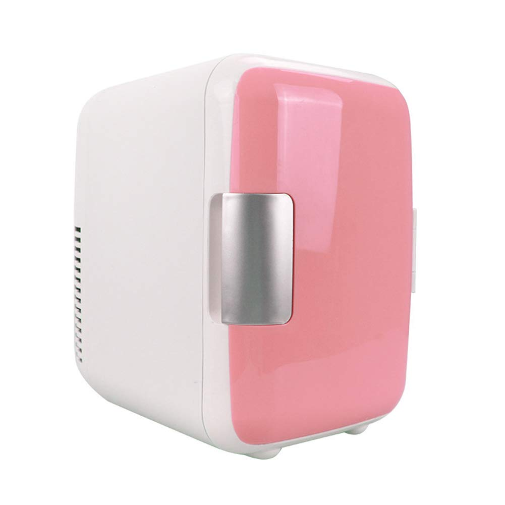 YUSHHO56T Mini Car Refrigerator Car Electrical Appliances Storage Container 4L Portable Mini Car Refrigerator Low Noise Cooling Heating Dual-Use Fridge - Pink
