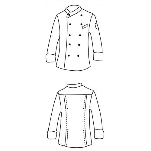 Isacco - Veste Cuisinier Giza Blanc Noir