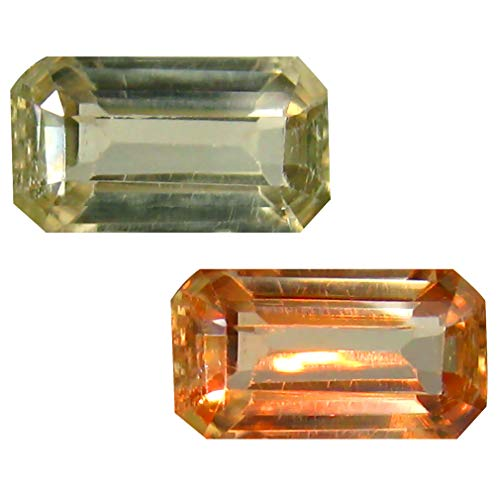 Deluxe Gems 1.47 ct Octagon Cut (9 x 5 mm) Unheated/Untreated Turkish Color Change Diaspore Natural Loose Gemstone