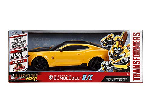 - 2016 Chevy Camaro Jada Hollywood Rides The Last Knight Bumblebee R/C Remote Control 2.4GHz, All Batteries Included, Built in USB Charging Cable, Turbo Boost, Travels 100 FT, Age 6+ New