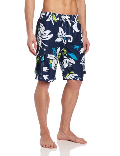 Kanu Surf Men's Barracuda Swim Trunks (Regular & Extended Sizes), Oahu Navy, Large