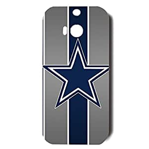 Eye-Catching Stripes Design NFL Dallas Cowboys Fashion Cover for Htc One M8