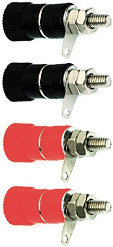 CESS Amplifier Terminal Connector Binding Post Banana Plug Jack Socket Panel/Chassis Mount - Length:1.3