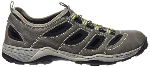 Grau Men Uomo da Ginnastica Schwarz 40 Sneakers Cenere Cement Scarpe 08065 Rieker 0wE7qaB