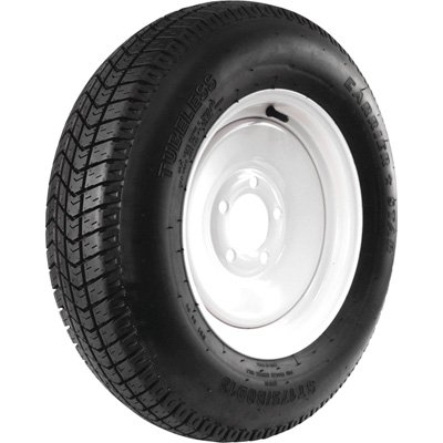 - 5-Hole High Speed Standard Rim Design Trailer Tire Assembly - ST175/80D-13