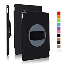 JUN-Q® iPad Mini 4 Case,Back Grip Kickstand Shockproof Drop Proof for Kids ,360 Degree Rotation Case Dirt and Shock Proof, Hand Strap Extreme-Duty Military Case Cover for iPad Mini 4