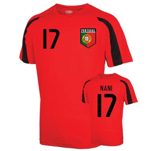Portugal Sports Training Jersey (nani 17) Kids B07515NXFV SB (5-6 Years)|Red Red SB (5-6 Years)