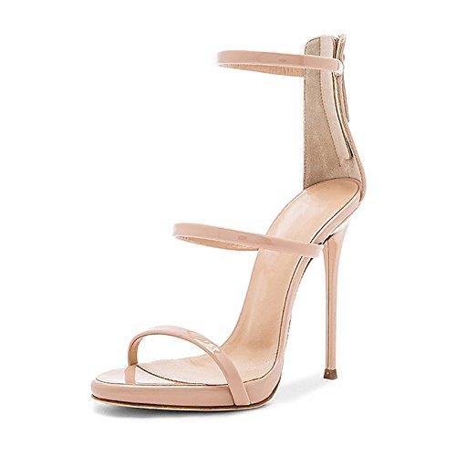 Mismo plata Sandalias 2018 y Tiene ZHANGYUSEN La Sandalias Heeled de 11cm High Zapatos Nueva el Estrella YRvpnvZ