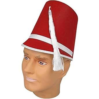24f69d3aea4 Amazon.com  Felt Drum Major Hat - Red  Clothing