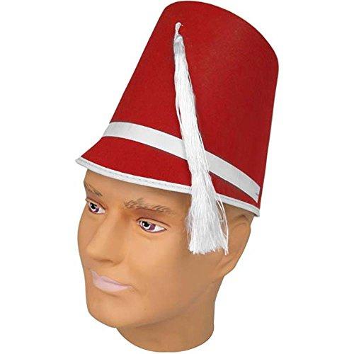 [Felt Drum Major Hat - Red] (Toy Soldier Hat)