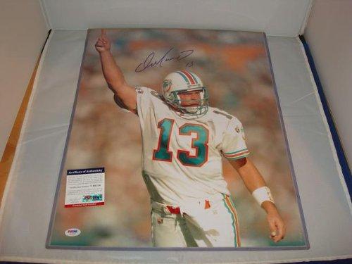 Dan Marino Signed 16 x 20 Classic Photograph, Miami Dolphins Legend, - Dan Marino Signed Photograph