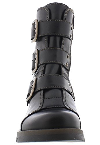 Mujer Black London motero FLY estilo botas SqB7wFnx6H