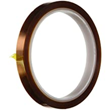 SRA Soldering Products SRA Gold Kapton Polyamide High Temperature Masking Tape, 260 Degree C, 30m Length by 51/128-Inch Width