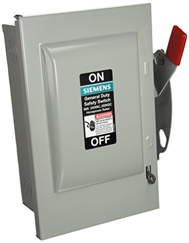 SIEMENS GNF322 60 Amp, 3 Pole, 240-Volt, 3 Wire, Non-Fused, General Duty, Indoor Rated by Siemens