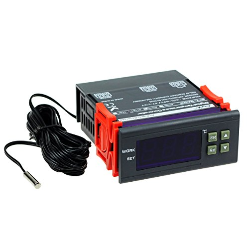 (bayite DC 12V Fahrenheit Digital Temperature Controller 10A 1 Relay with)