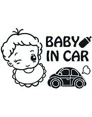 ستيكر للسيارة شكل بيبي ان كار من سولو E277، 15 × 15 سم - اسود وابيض