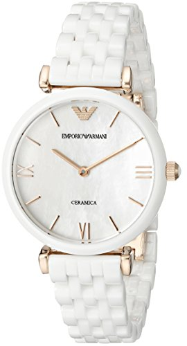 (Emporio Armani Women's AR1486 Dress White Ceramic Watch)
