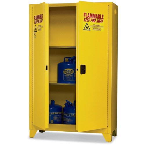 Eagle 4510LEGS Tower Safety Cabinet for Flammable Liquids, 2 Door Self Close, 45 gallon, 69