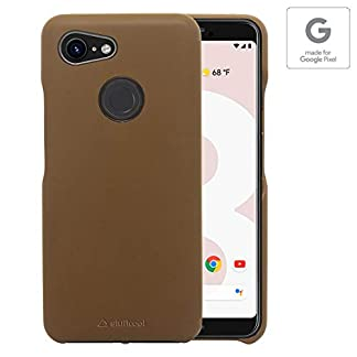 Stuffcool Joli Elegant PU Leather Back Case Cover for Google Pixel 3 (2018) 5.5″ – Brown (Authorized Made for Google Pixel Accessory) 41ahitOmYBL