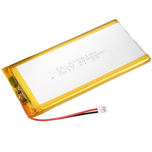 - uxcell Power Supply DC 3.7V 4000mAh 6050100 Li-ion Rechargeable Lithium Polymer Li-Po Battery