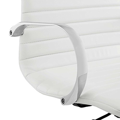 Modway EEI-2863-WHI Groove Ribbed Back, Drafting Chair, White by Modway (Image #5)
