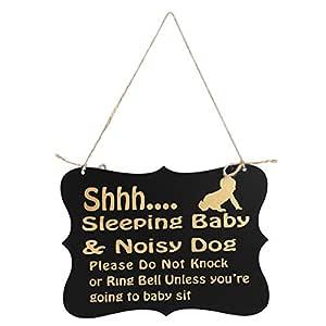 WINOMO Shhh de Dormir bebé señal para Puerta no Molestar ...