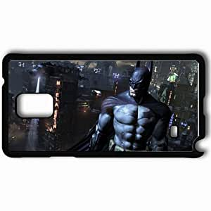 Personalized Samsung Note 4 Cell phone Case/Cover Skin Movie 3D Batman The Dark Night Rises Wallppaer 8022 Black