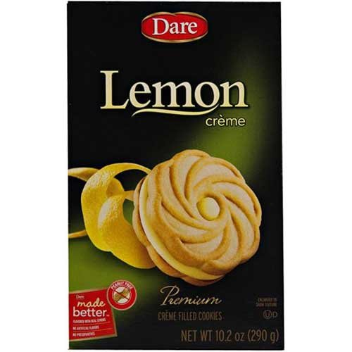 Dare Foods Lemon Creme Filled Cookie, 10.2 Ounce - 12 per case. by Dare Foods