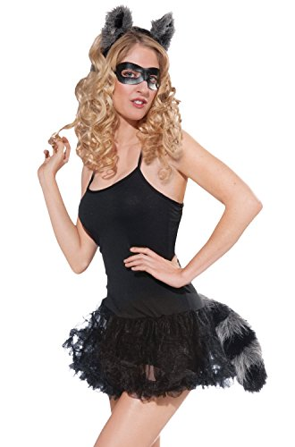 Forum Novelties Women's Adult Raccoon Ears and Tail with Mask, Multi Colored, One Size]()