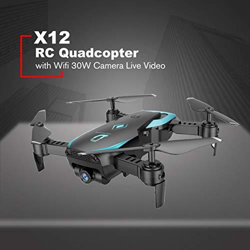 WOSOSYEYO X12 4CH RC Plegable Drone Quadcopter Altitude Hold con ...
