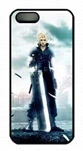 Final Fantasy Cloud Strife Iphone 5 5S PC Black Case, Customized Final Fantasy Cloud Strife Case for iPhone 5