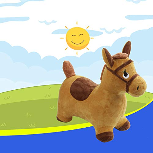 (1KTon US Spot! Hopping Horse Outdoors Ride On Bouncy Animal Play Toys Inflatable Hopper Jumping Kids Gifts for 2, 3, 4, 5 Year Olds, Kids Toddlers Boys Girls)