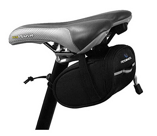 Die Fahrrad-Sattel-Pack - Schlauch vor dem Paket mit einem Mobiltelefon Tasche 90lMyy2