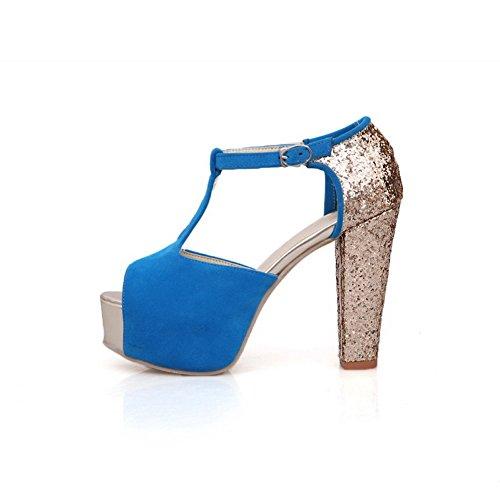 Adee , Damen Sandalen, blau - blau - Größe: 35