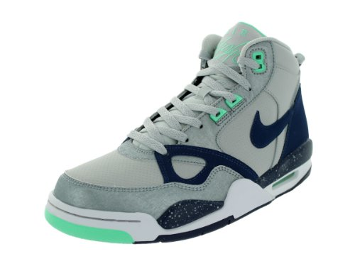 Nike de los hombres Flight 13 Mid Hi-Top Trainers - Grau (Dusty Grey)