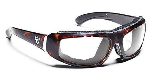7eye Bali SharpView Sunglasses, Tortoise Dark Frame, Clear Lens, - Dry Sunglasses Eye