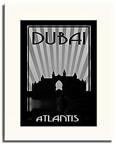 Atlantis - Black And White F05-m (a2) - Framed