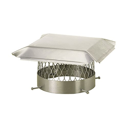 Draft King SS14U Round Bolt-On Stainless Steel Single Flue Chimney Cap, 14 by Draft King