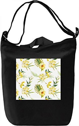 Flowers Nature Texture Borsa Giornaliera Canvas Canvas Day Bag| 100% Premium Cotton Canvas| DTG Printing|