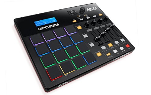 Akai Professional MPD226 | MIDI Drum Pad Controller with Software Download Package (16 pads / 4 knobs / 4 buttons / 4 faders) by Akai Professional