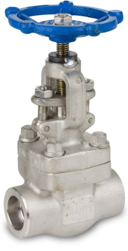 Sharpe Valves 44836 Series Stainless Steel 316L Globe Valve, Bolted Bonnet, Inline, Hand Wheel, 1-1/2 Socket (Stainless Steel Globe Valve)