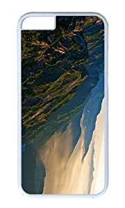 MOKSHOP Adorable japan north alps Hard Case Protective Shell Cell Phone Cover For Apple Iphone 6 Plus (5.5 Inch) - PC White