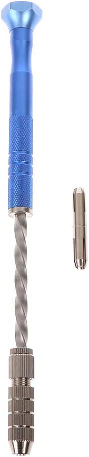 haohao3 Semi-Automatique Spirale Bleu Mini Micro perceuse /à Main mandrin 10 pi/èces Outil de forets h/élico/ïdaux 0.8-3mm