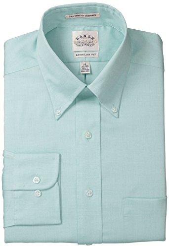"UPC 712848499884, Eagle Men's Non Iron Regular Fit Solid Button Down Collar Dress Shirt, Jade, 15.5"" Neck 34""-35"" Sleeve"