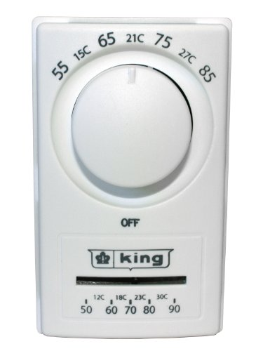 King HET-2R Double Pole European Style Anticipated Thermostat ()