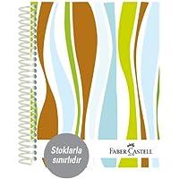 Faber-Castell 5075400407 Sert Kapak Sep.3+1 Dalgalar Defter 80gr, 160 Yaprak